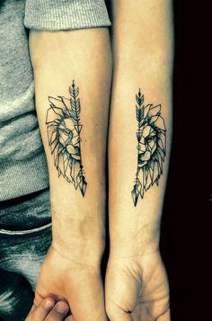 20 tatuagens em casal para você se inspirar