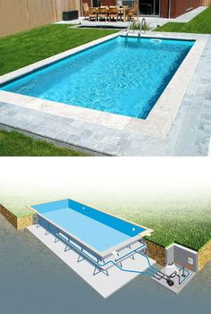 best creative small swimming pool design for backyard inspiration 20 Swimming Pool Construction, Swiming Pool, Small Swimming Pools, Small Pools, Swimming Pools Backyard, Swimming Pool Designs, Backyard Pool Landscaping, Backyard Pool Designs, Small Backyard Pools