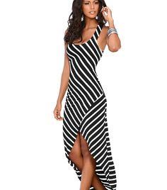 b412b7af0d8 TIGENA Women Summer Dress 2018 Summer Sundress Female Striped Long Maxi  Dress Tunic Boho Beach Dress Robe Femme vestidos