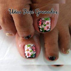 Toe Nail Designs, Thalia, Toe Nails, Manicure, Beauty, Work Nails, Pretty Toe Nails, Simple Toe Nails, Toe Nail Art