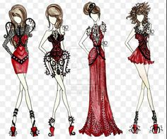 Imagen de fashion, red, and dress