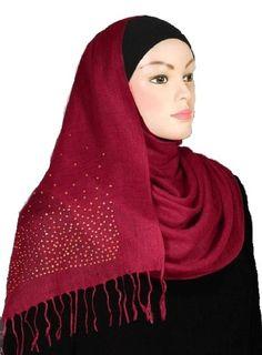 Cool Cranberry Sparkling Viscose Shawl Hijab Shayla Scarf  Hejab Muslim Islam. Starting at $3