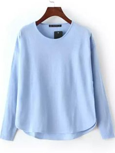 Paneled Cotton Long Sleeved top