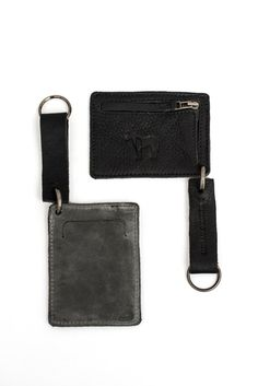 Unisex Card Holder & Keychain Coins Pouch Black by MEIRAVOHAYON