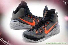 sites de lojas de tenis Nike Hyperdunk 2014 Cinza / Laranja 653640-030 Masculino-Mulheres