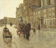 Georg Hendrik Breitner (Dutch, 1857-1923)  Rokin with the Nieuwezijdskapel, Amsterdam  c.1904