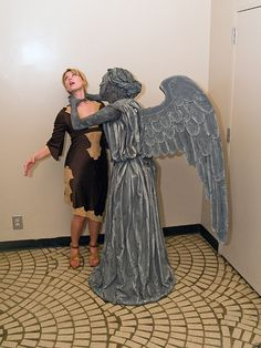 Weeping Angel Costume How-to with step-by-step photos. Intermediate project.