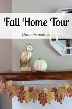 This Fall Home Tour has lots of fun ideas for ways to touch up your home so it feels like fall. Check it out, and get inspired on how to manage your home decor and Thanksgiving tablescape.
