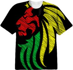 Lion Reggae Colors Cool Flag Vector Art from Print All Over Me