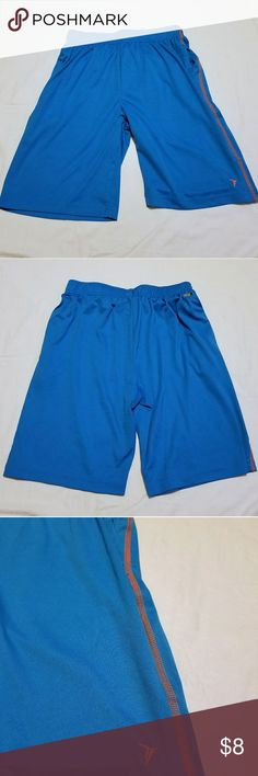 Boys Old Navy Active Go-Dry Shorts EUC boys Old Navy Active Go-Dry shorts. Shorts have a drawstring and pockets. Shorts are a teal blue color with neon orange thread down the sides.  Shorts are a boys size XL (14-16). Old Navy Bottoms Shorts