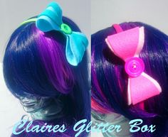 Cartoon inspired bow Alice band available from my little shop on folksy  https://folksy.com/shops/ClairesGlitterBox
