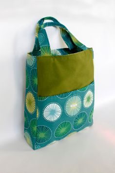 Large Tote  Birdbags Carrier Pigeon Turquoise & by thebirdbags, $75.00