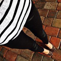 Saturday night in my favorite neutrals ... leopard print + black & white stripes! // I'm warn... @liketoknow.it www.liketk.it/hYzi #liketkit