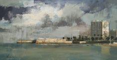 Santa Catalina - Óleo sobre lienzo (38 x 73 cm.)