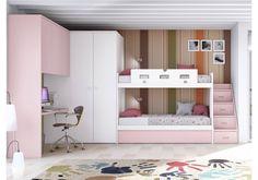 Litera adaptada : Dormitorios infantiles modernos de Toca Fusta