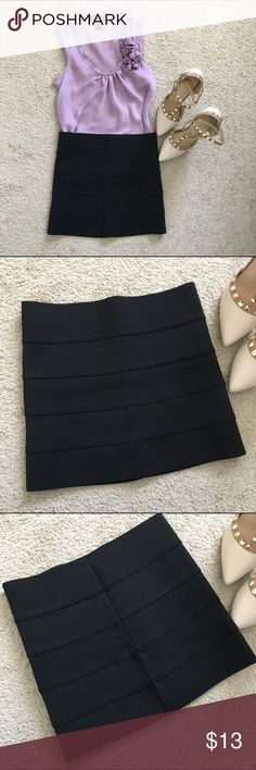 "Forever21 black bodycon skirt A must have in every closet! Classic black bodycon skirt. Euc! 65% polyester 35% rubber 12.5"" long Forever 21 Skirts Mini"