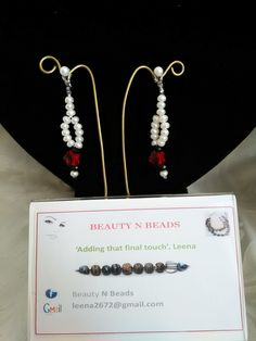 Fresh water pearls and crystals earrings