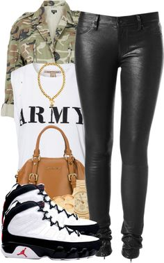 """Army"" by breezybabbe ❤ liked on Polyvore"