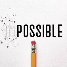"""Get rid of """"impossible"""" and embrace """"everything is possible"""". Typography Letters, Typography Design, Modern Typography, Impossible Quotes, Instagram Feed, Instagram Posts, Word Design, Design Art, Graphic Design Trends"""