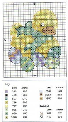 duck and eggs easter cross stitch