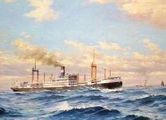 1935. Willem van der Does. Passagiersschip Tjibadak van de Java China Japanlijn.JPG