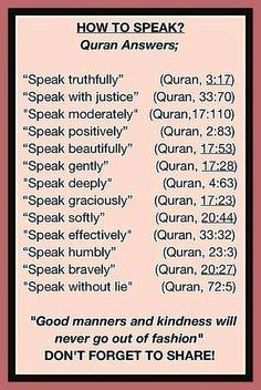 Ways to speak