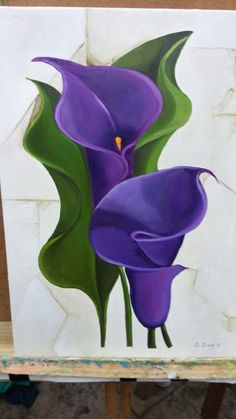 Lily Painting, Acrylic Painting Flowers, Watercolor Flowers, Watercolor Paintings, Bathroom Flowers, Lilies Drawing, Purple Flowers Wallpaper, Arte Floral, Pastel Art