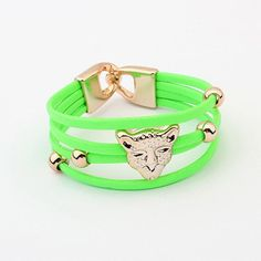 New Fashion Leopard Head Dazzle Colour Bracelet