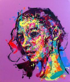 an ordinary person 12, acrylic on canvas, 53.0cm x 45.5, 2013