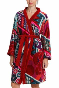 desigual patch jacquard bathrobe our exceptional quality bathrobes are the softest you 39 ll ever. Black Bedroom Furniture Sets. Home Design Ideas