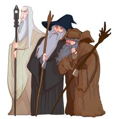 Saruman, Gandalf and Rrrrrrrrradaghast. (I'm saying it like Sylvester McCoy would say it)