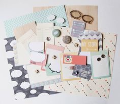 Craft Cardmaking And Scrapbooking Monthly Kit  by Sarah Hurley Designs