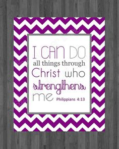 bible verse printable I can do all things through Christ who strengthens me. by ThePaperLace, $5.00