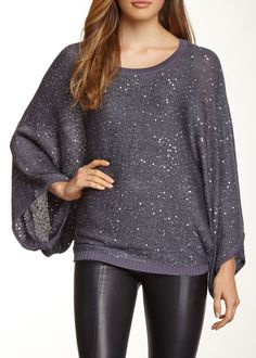 Dolce Cabo | Sequin Dolman Sleeve Sweater