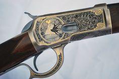 Gun engraved by Lisa Tomlin