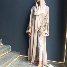 Blush pink classic cut abaya with Matt gold and pearl pink sequins. Not to be missed!  #qabeela #limitededitions #fashionblogger #BeautyBloggers #luxurylife #instafashion #dinatokia #monicarose #abaya #hautecouture #modestfashion #travelinstyle #hijab #styleofarabia #styleinspiration #abudhabifashion #dubaifashion #qatar #hijabblogger #hijabinspiration #hautecouture