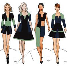 Dress Design Sketches, Fashion Design Sketchbook, Fashion Design Drawings, Fashion Sketches, Fashion Art, Fashion Models, Fashion Women, Corset Sewing Pattern, Fashion Sketch Template