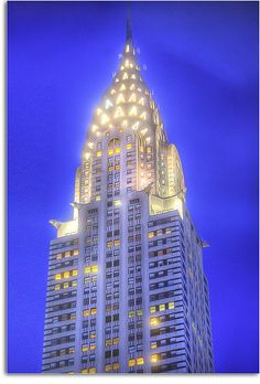 The Chrysler Building: an Art Deco style skyscraper in New York City #Manhattan