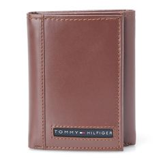 3228c3721 Tommy Hilfiger 31TL11X033-251 Cambridge Trifold Leather Wallet Brown For  Men's