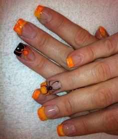 Frighteningly Cute Nail Art Designs for Halloween My nails – Halloween nails, fall nails, acrylic, nail art This image has. Holiday Nail Designs, Cute Nail Art Designs, Holiday Nail Art, Halloween Nail Designs, Toe Nail Designs For Fall, Fall Designs, Awesome Designs, Fancy Nails, Love Nails