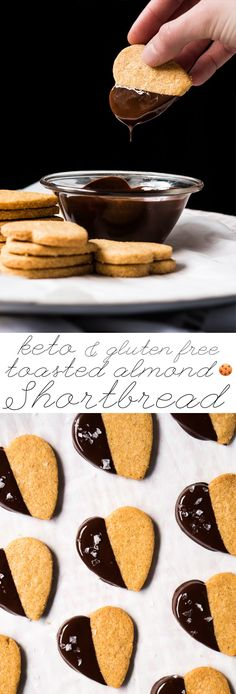 Toasted Almond Gluten Free, Grain Free & Keto Shortbread Cookies Less than 1g net carbs a pop! #ketocookies #ketosweettreats #ketoshortbread