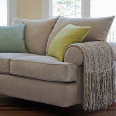Ways to Create a More Peaceful Home - Balance it out.    Love your glass coffee table? Pair it with something cozy, like a plush sofa. Softer elements in the room bring comfort; harder elements provide stability.