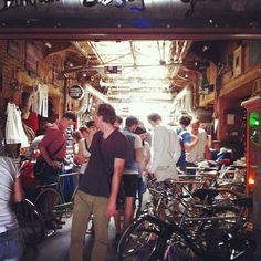 At Szimpla Kert in Budapest they have monthly bicycle flea markets...not too interesting to us but Pat's just got really excited - he may have chosen which country he's meeting us in for a couple of days...