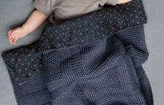 photo tricot modele tricot couverture bébé facile 13