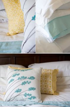 aqua and yellow bedding! Yes. But with a touch of hot pink or coral :)
