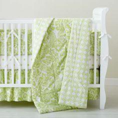 Crib Bedding: Baby Green Floral Crib Bedding in Crib Bedding Collections Green Bedding, Green Quilt, Polka Dot Bedding, Baby Crib Bedding, Baby Swaddle Blankets, Stroller Blanket, Crib Sets, Baby Store, Baby Boy Nurseries