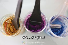 How to make your own hair glitter