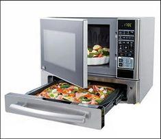 Microondas con cajón para pizzas #ingenioso #artilugio. Es de la marca Kenmore