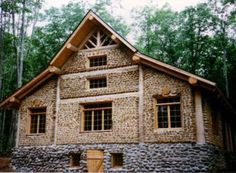 Cordwood lodge.