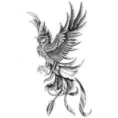 Phoenix Tattoo – Tattoo's World! Phoenix Tattoo Feminine, Rising Phoenix Tattoo, Phoenix Bird Tattoos, Phoenix Tattoo Design, Phoenix Tattoo Sleeve, Phoenix Tattoo For Men, Feniks Tattoo, Tattoo Calf, Fire Tattoo